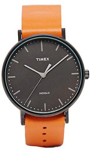Timex TW2P91400 Weekender Fairfield Black Dial Orange