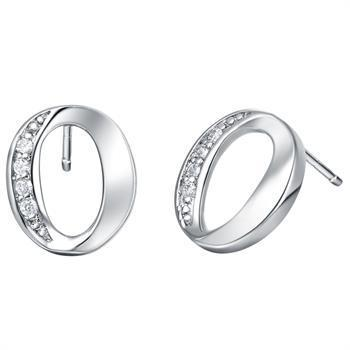 White gold plated earrings lsr394 - 11*12
