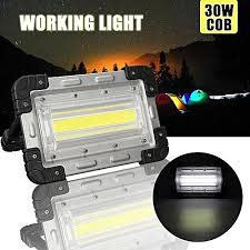 30w cob rechargeable lamp outdoor camping flood light with