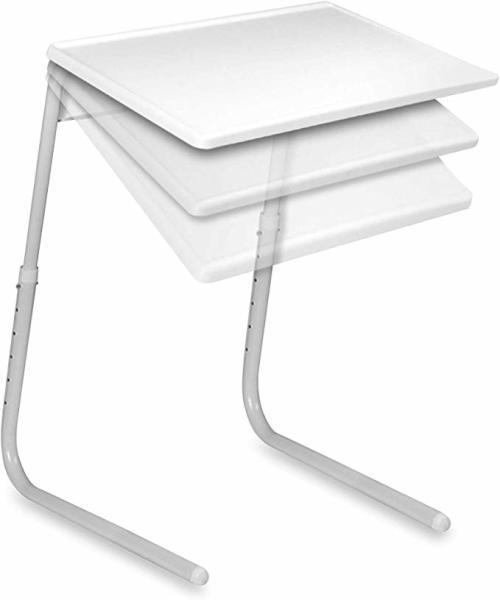 White table-mate 2 the adjustable, portable, folding table