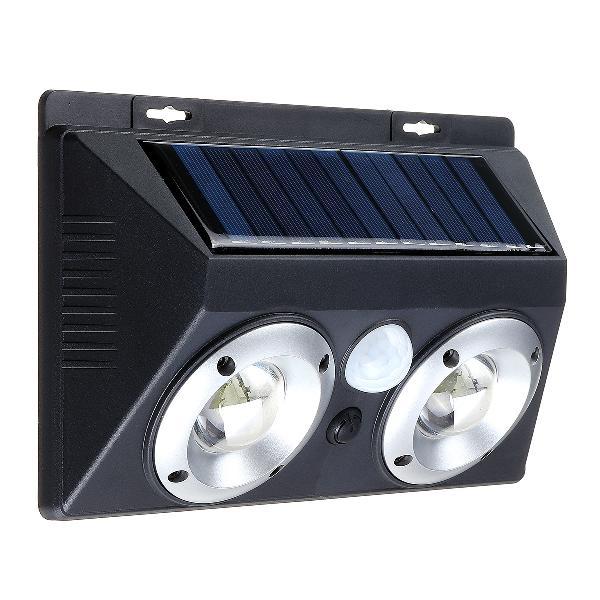20w solar panel wall light motion sensor outdoor led yard