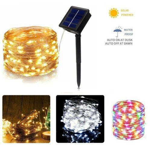 5m 50led solar led light string outdoor waterproof top wire
