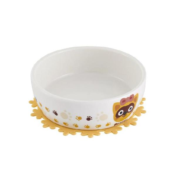 Ceramic pet bowl with free placemat for food and water bowls