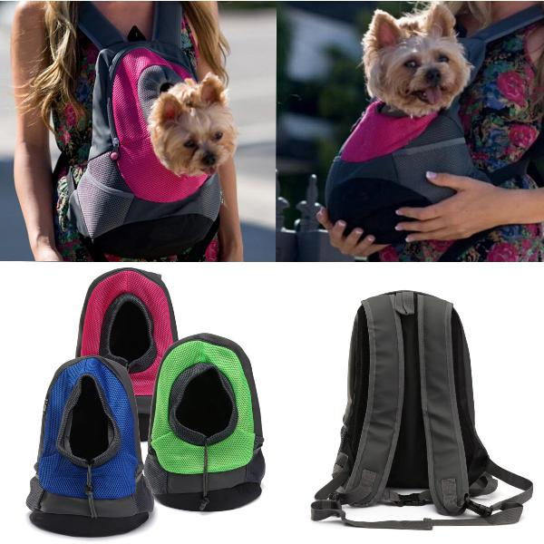 Dog carrier cat puppy mesh pet travel bag backpack double