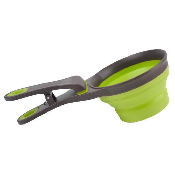 Dog food scoop folding pet dog cat food water bowl sealing