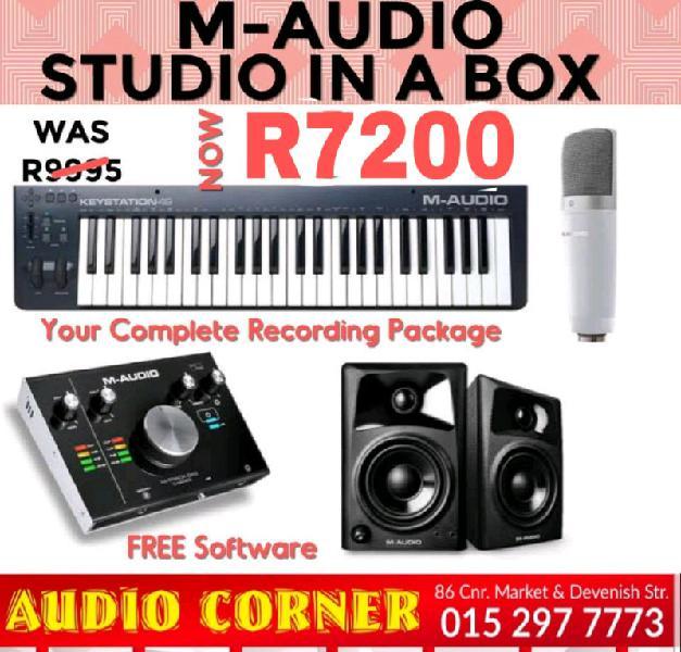 M.audio studio in a box recording combo