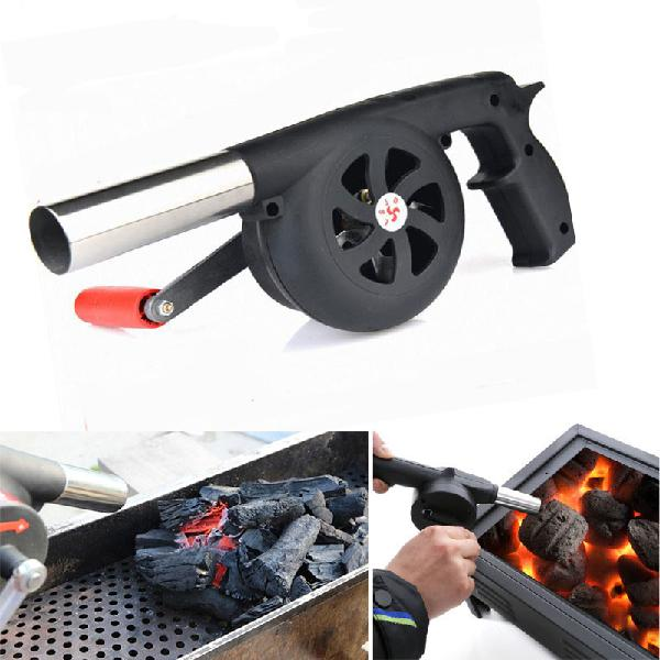 Outdoor camping bbq grill fan air blower picnic barbecue