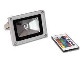 Remote control 10w rgb waterproof led flood light