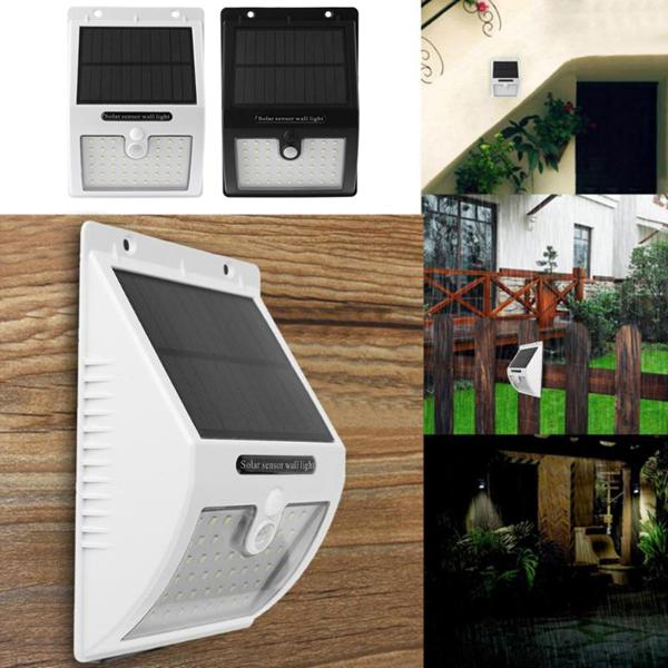 Solar power 48 led pir motion sensor wall light outdoor