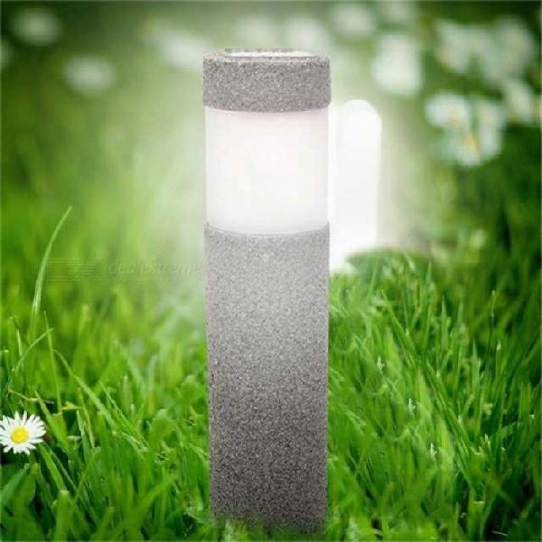 Solar power stone pillar lawn lamp 5w white led solar lights