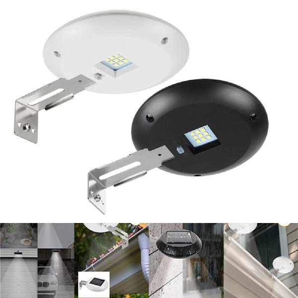 Solar powered led round gutter sink light waterproof durable
