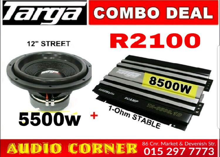 Targa sound sub and amp 8500 mono
