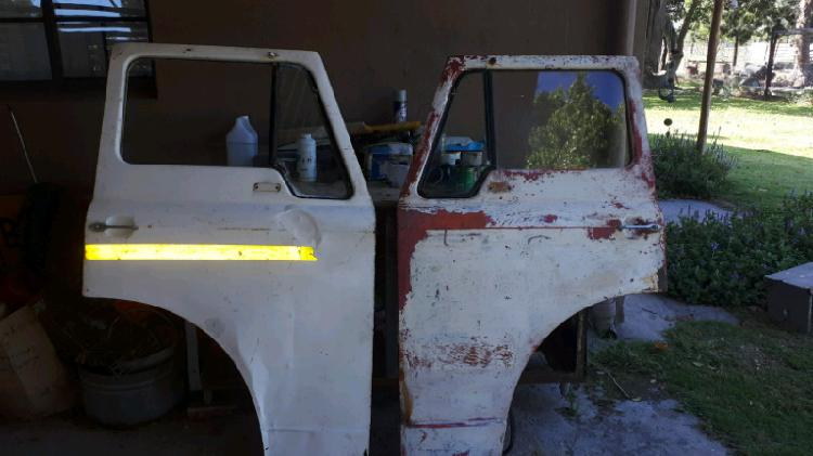2 x old ford truck doors