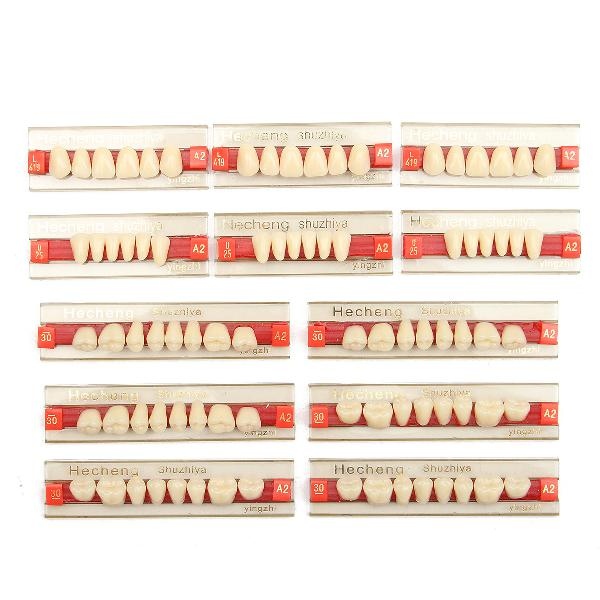 3 set 84*1 a2 color denture dental acrylic resin teeth upper
