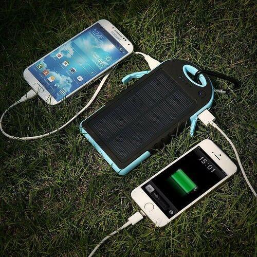 5000mah portable waterproof solar charger dual usb external