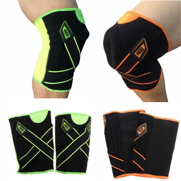 Double spring pressure sport knee sleeve protector brace pad