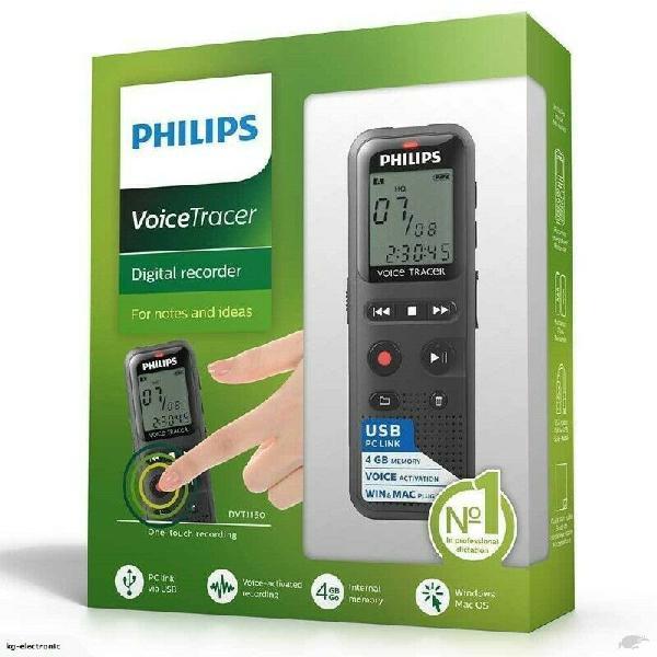 Philips dvt1150 4bgb digital voice recorder activated audio