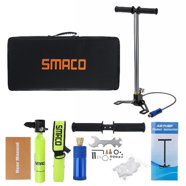 Smaco 0.5l diving scuba cylinder oxygen respirator tank +