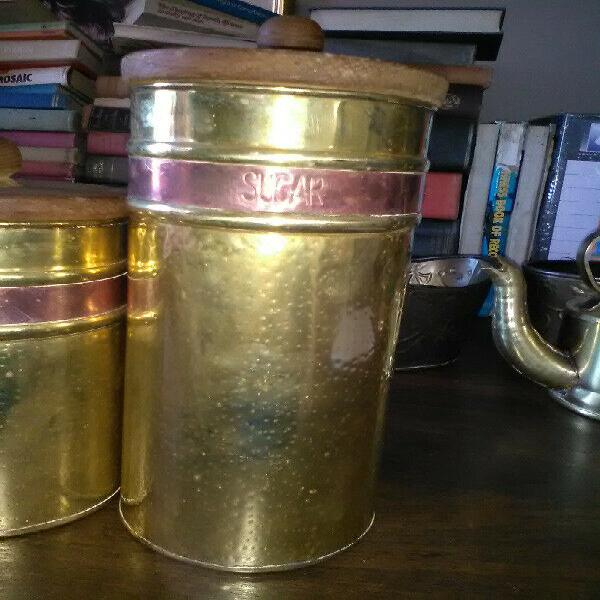 Brass coffee sugar, tea set for sale r120