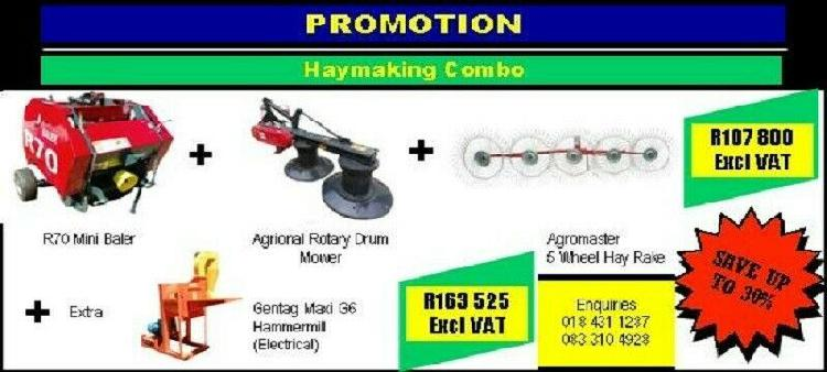 Promotion haymaking combo