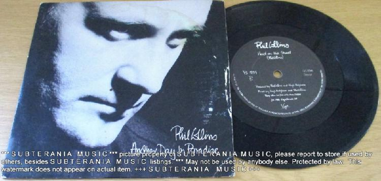 """Phil collins another day in paradise 7"""" single black vinyl"""