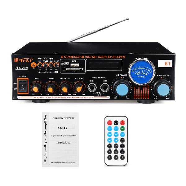 1200w 2 channel power amplifier remote control audio stereo