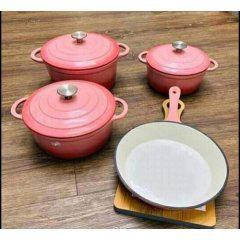 Cast iron pot set