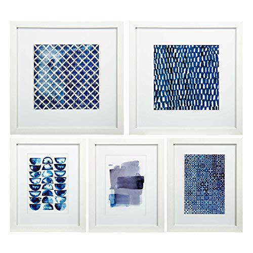 CTG Truu Design, Indigo Gallery Frame with Prints, Set of 5,