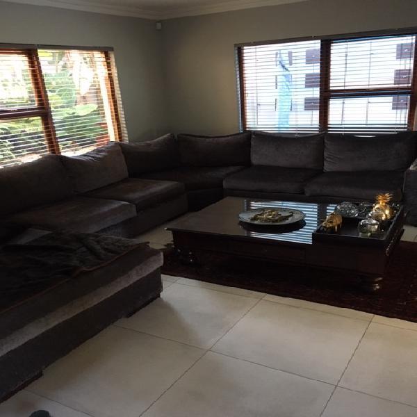 Dark grey corner unit couch