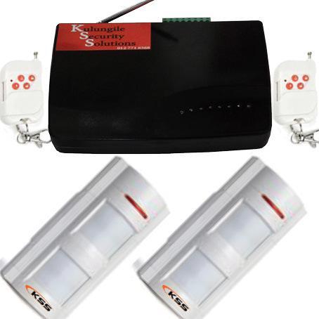 Gsm alarm with 2 outdoor motion detectors (beams)