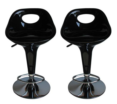 Modern adjustable swivel kitchen bar stool chair (set of 2)