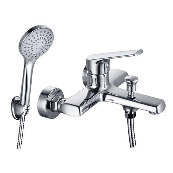 Montana wall mounted bath mixer with hand shower, chrome
