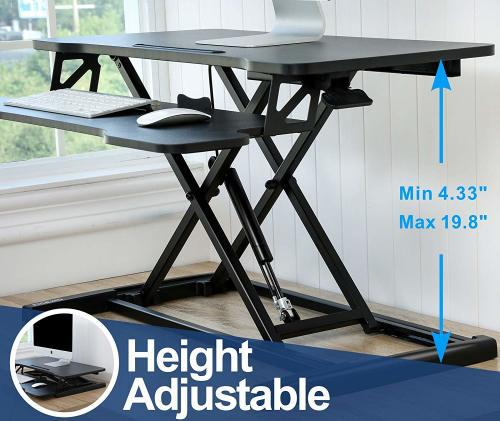 Ntech 32 inch adjustable standing desk mount
