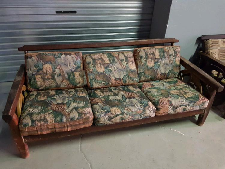 Ornate antique couch set