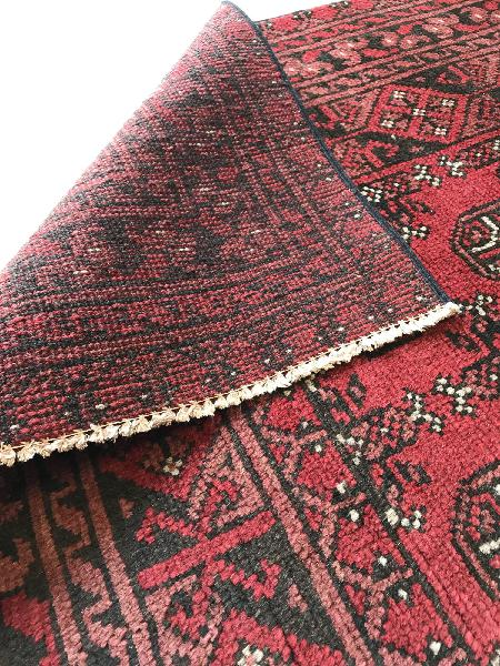 Red afghan aaqcha 202 x 285 - rugs original
