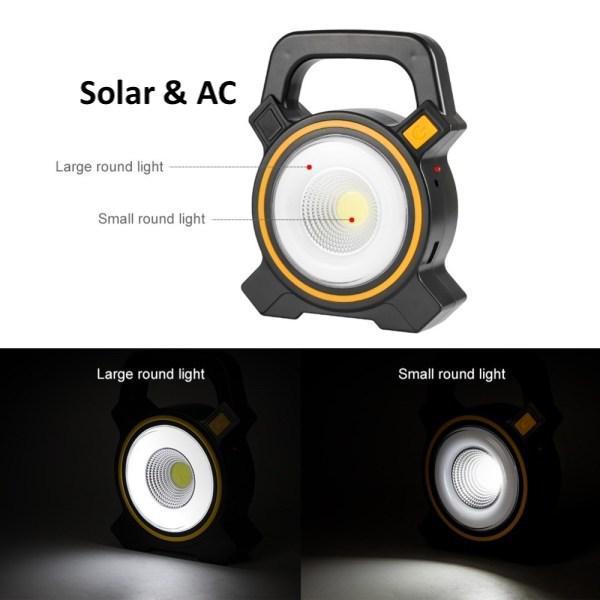 Solar cob work light