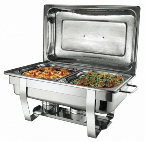 Stunning stainless steel two burners chafing dish with