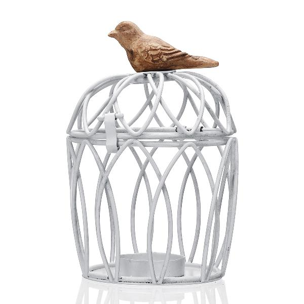 Mediterranean style bird cage candle holder wrought iron