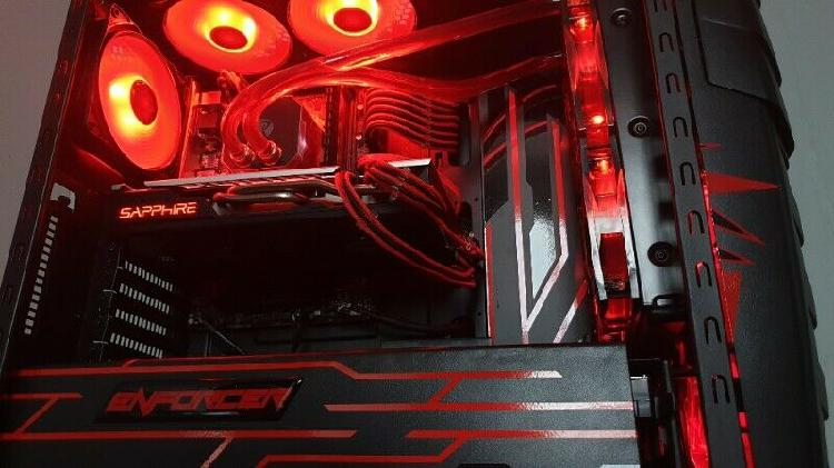 8th Gen Red and Black Themed Gaming PC For Sale
