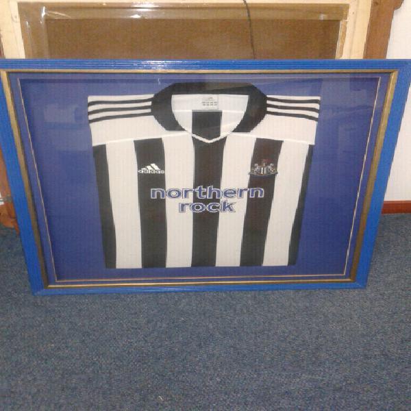 Newcastleunited Soccer shirt framed
