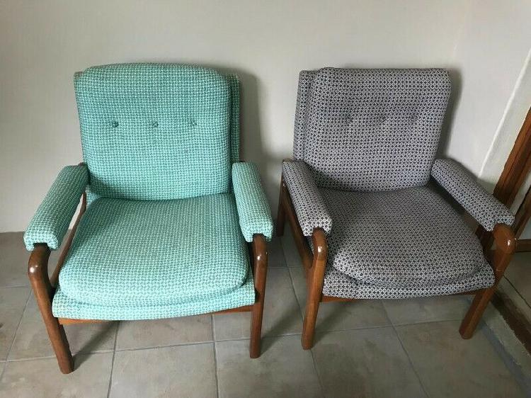 Retro Wooden Lounge Chairs