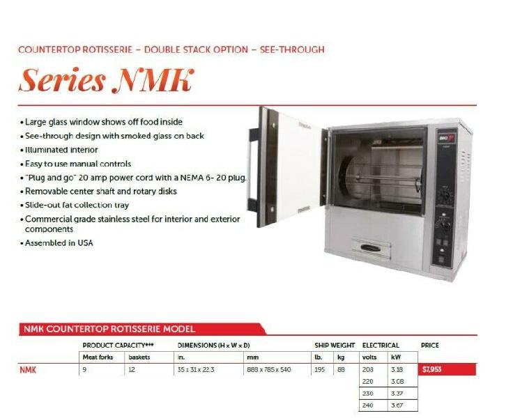 Rotisserie oven BKI-NMK(New Mini King) Industrial