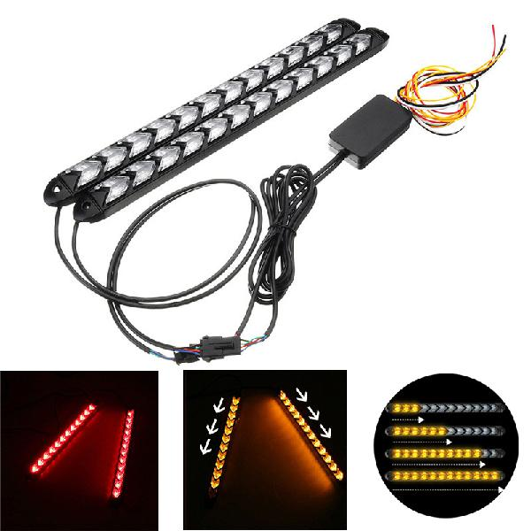 12v sequential flowing water flash led strip turn lights red