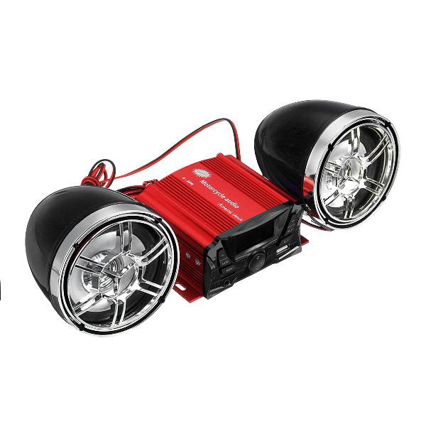 12v universal motorcycle audio bluetooth speaker remote