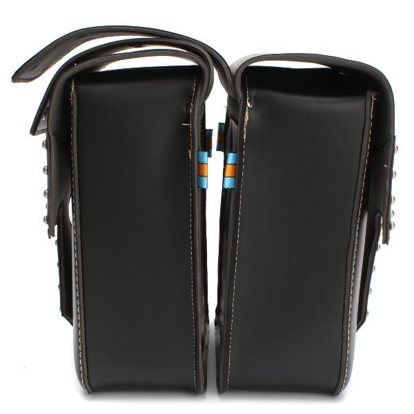 2pcs waterproof motorcycle side saddle bag pu leather