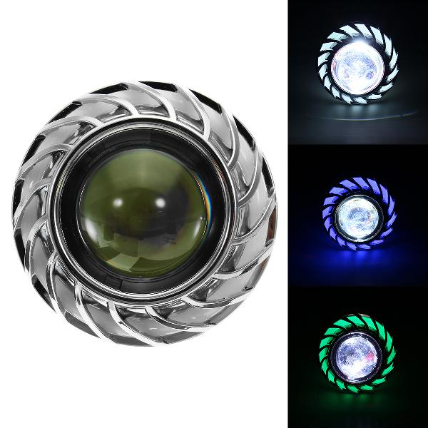 Double color round 8000k 30w high/low beam led headlights