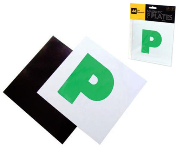 Motorcycle car sticker magnetic p plates learner driver