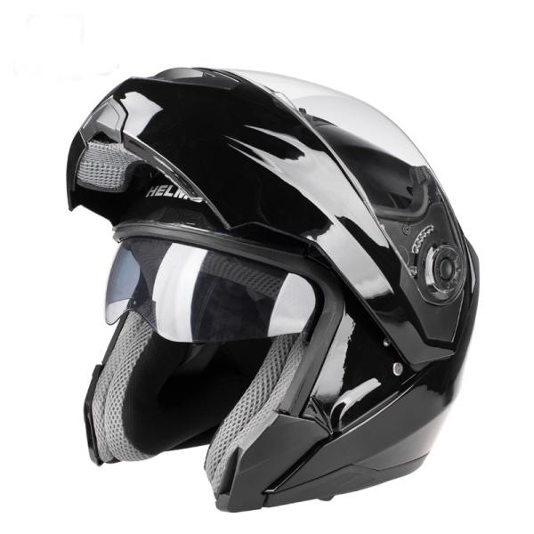 Open face helmet anti-uv casque with dual lenses for riders