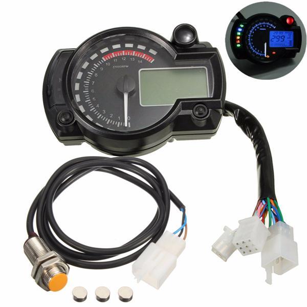 Universal motorcycle motor bike lcd digital speedometer