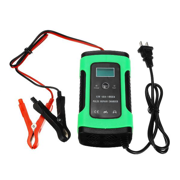Imars green 12v 6a pulse repair lcd battery charger for car